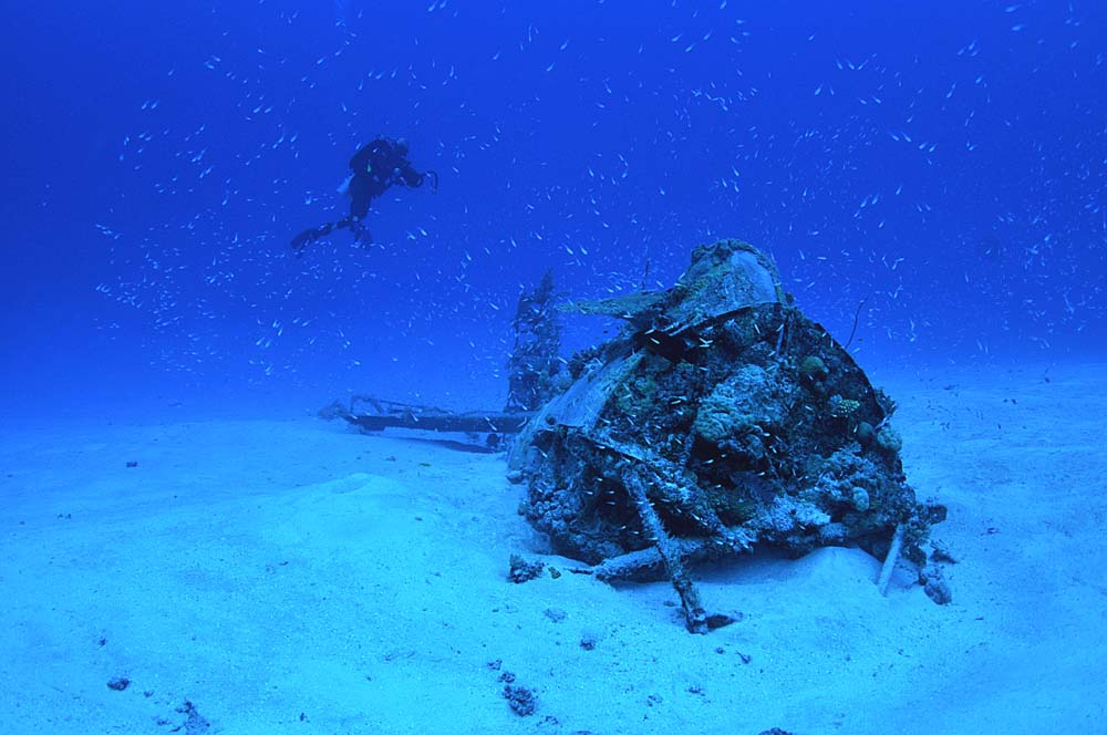 Front view of a Wildcat wreck