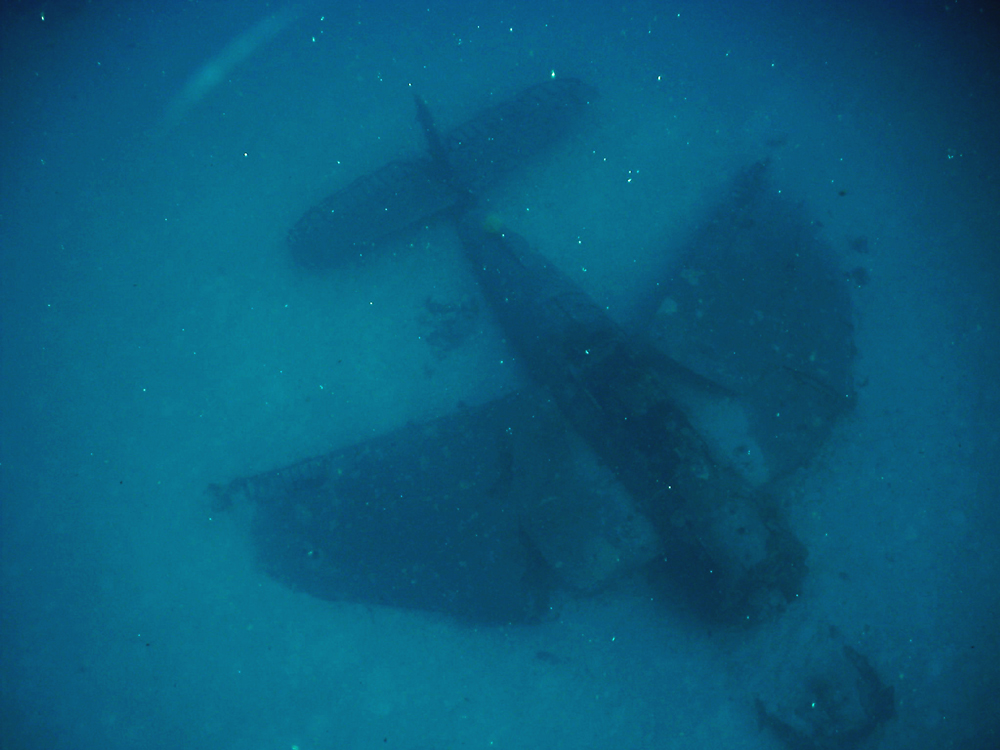 Dan's first glimpse of the 'upright Avenger' on June 11, 2007. He was shooting with a Sealife Reefmaster DC300 at the time. The BuNo of this plane hasn't been determined yet.