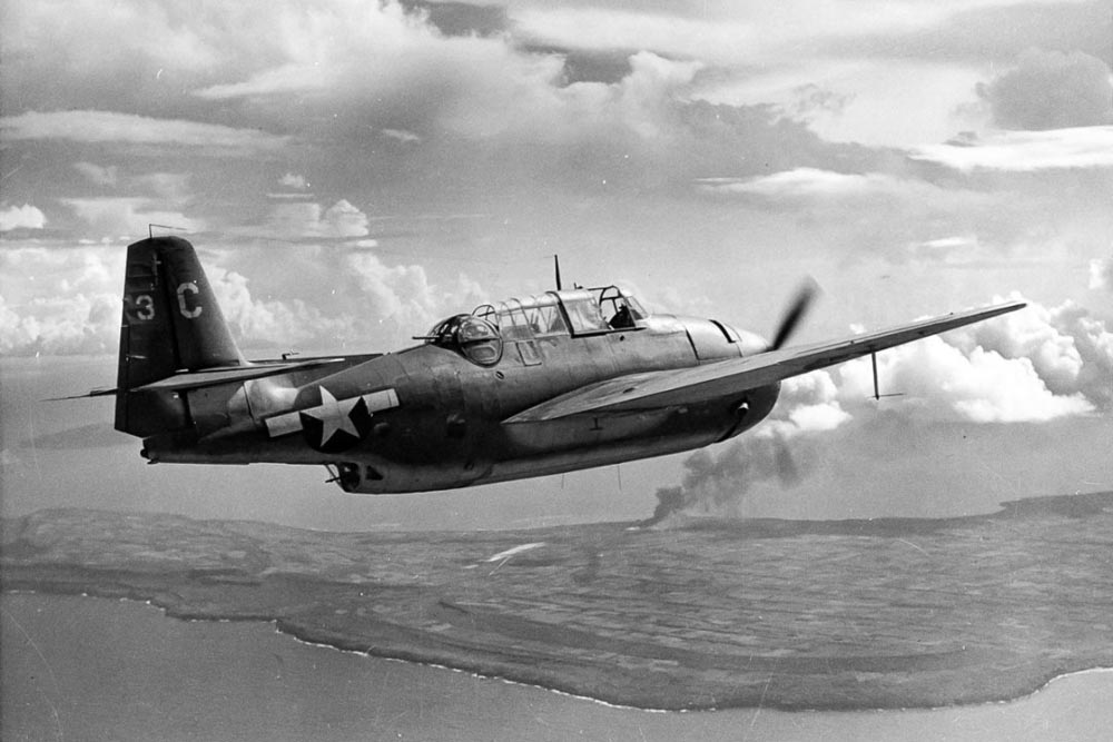 The TBM-1c Avenger similar to the one found by Project Recover