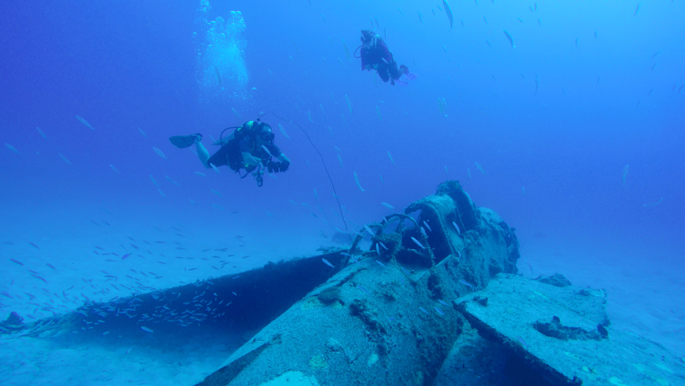 The condition of this WW2 aircraft wreck makes it one of the most well-preserved in Kwajalein Lagoon.