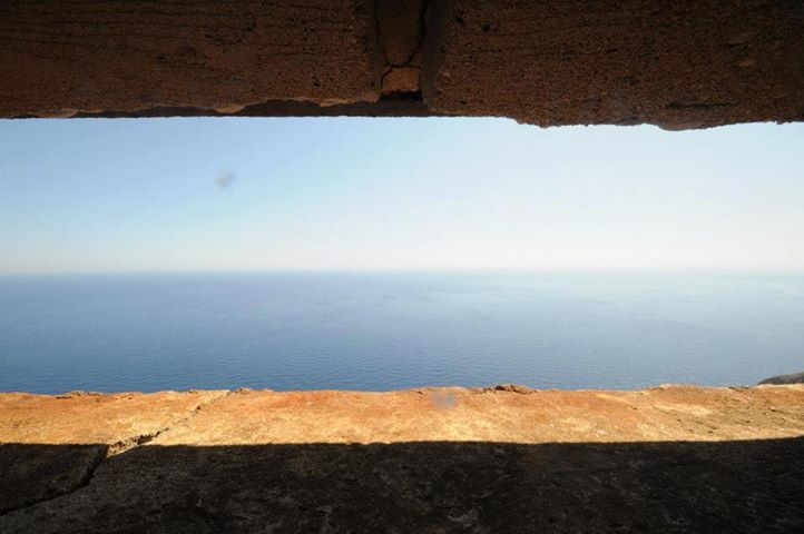 View from inside the bunker at the observation post.