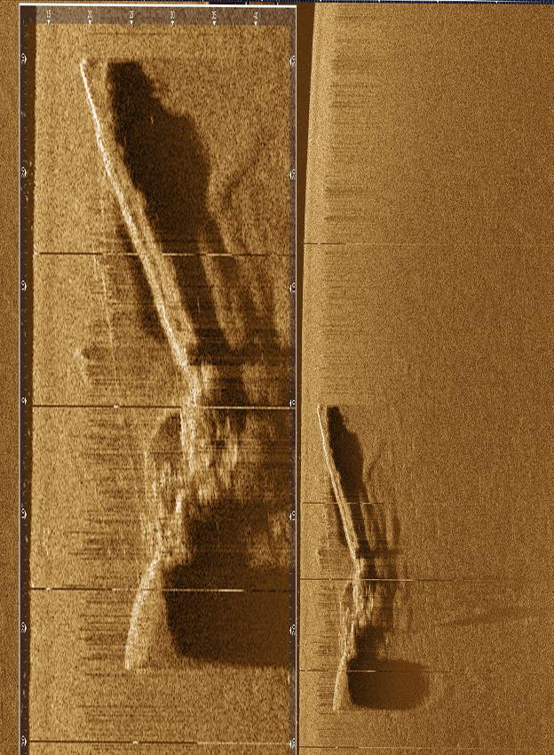 Side scan, από την Επιχείρηση με το πλοίο του Π.Ν. Υ/Γ-ΩΚ Α-478 Ναυτίλος