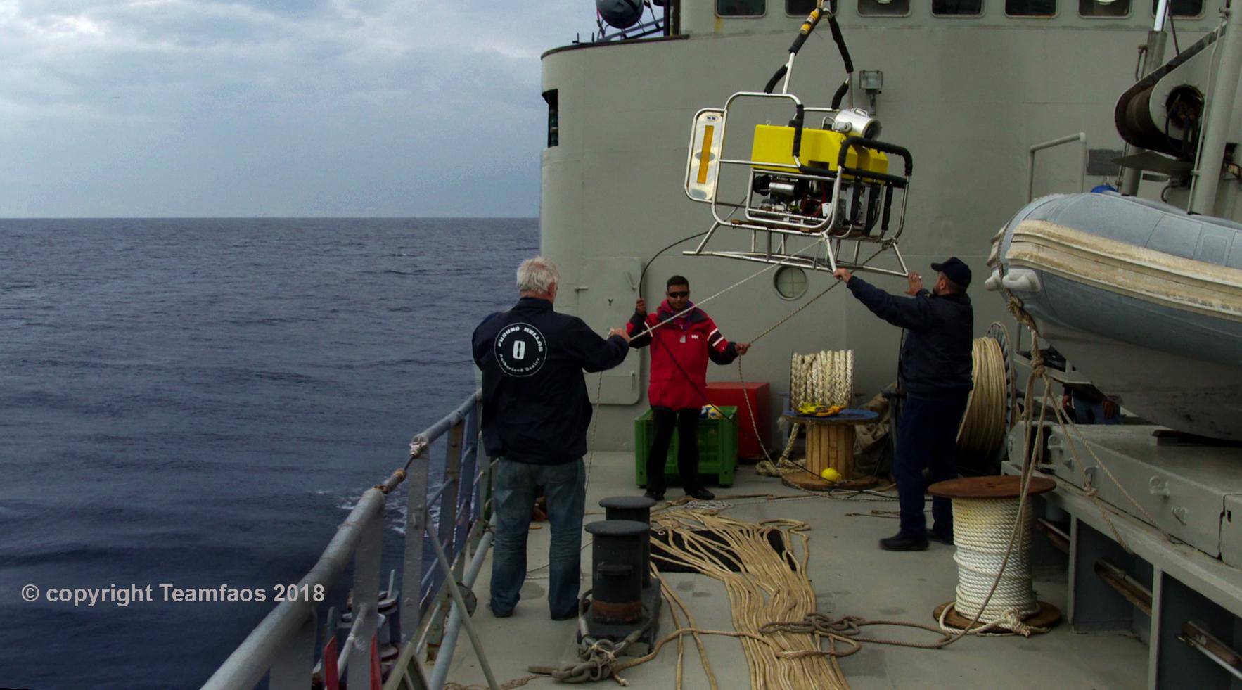Τα υποβρύχια πλάνα πραγματοποιήθηκαν με ειδικά μη επανδρωμένα σκάφη.