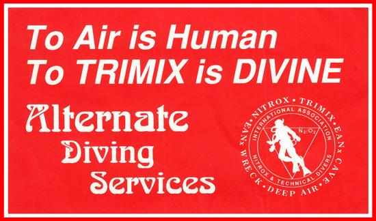 6 Alternate Diving Services sticker