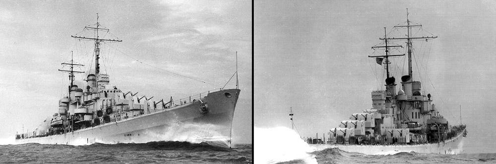 USS Atlanta during speed trials