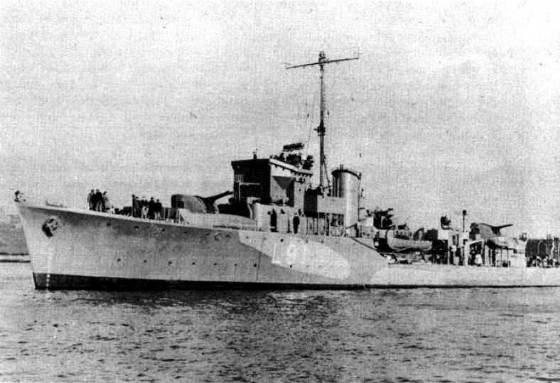 "The Greek Destroyer ""Miaoulis"" (ex-HMS MODBURY)"