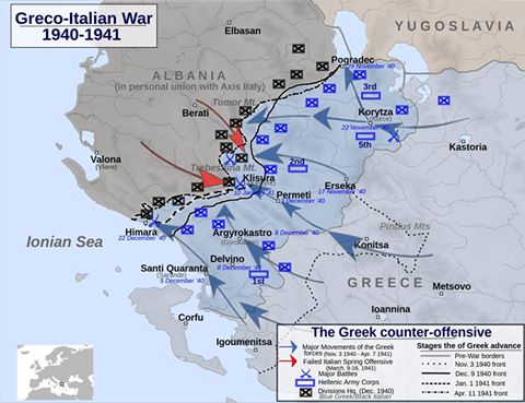 The Greek counter-offensive 14 November 1940