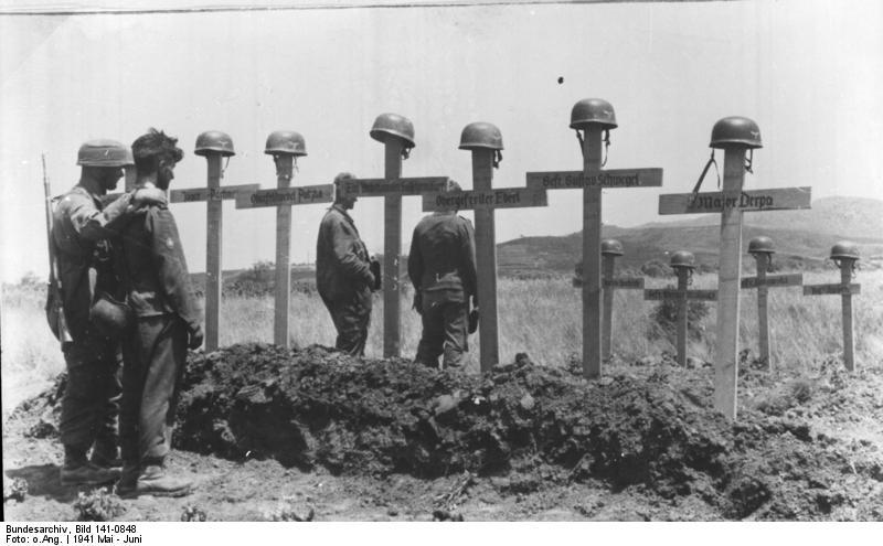 Kreta, Soldatengräber