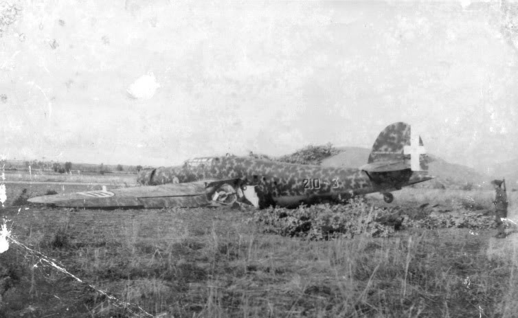 Cant Z1007bis downed by the Royal Hellenic Air Force