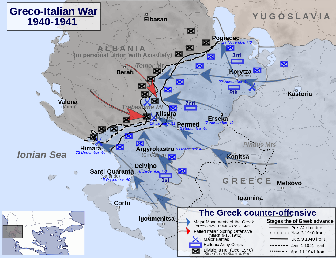 Greek counter-offensive (13 November 1940 – 7 April 1941)