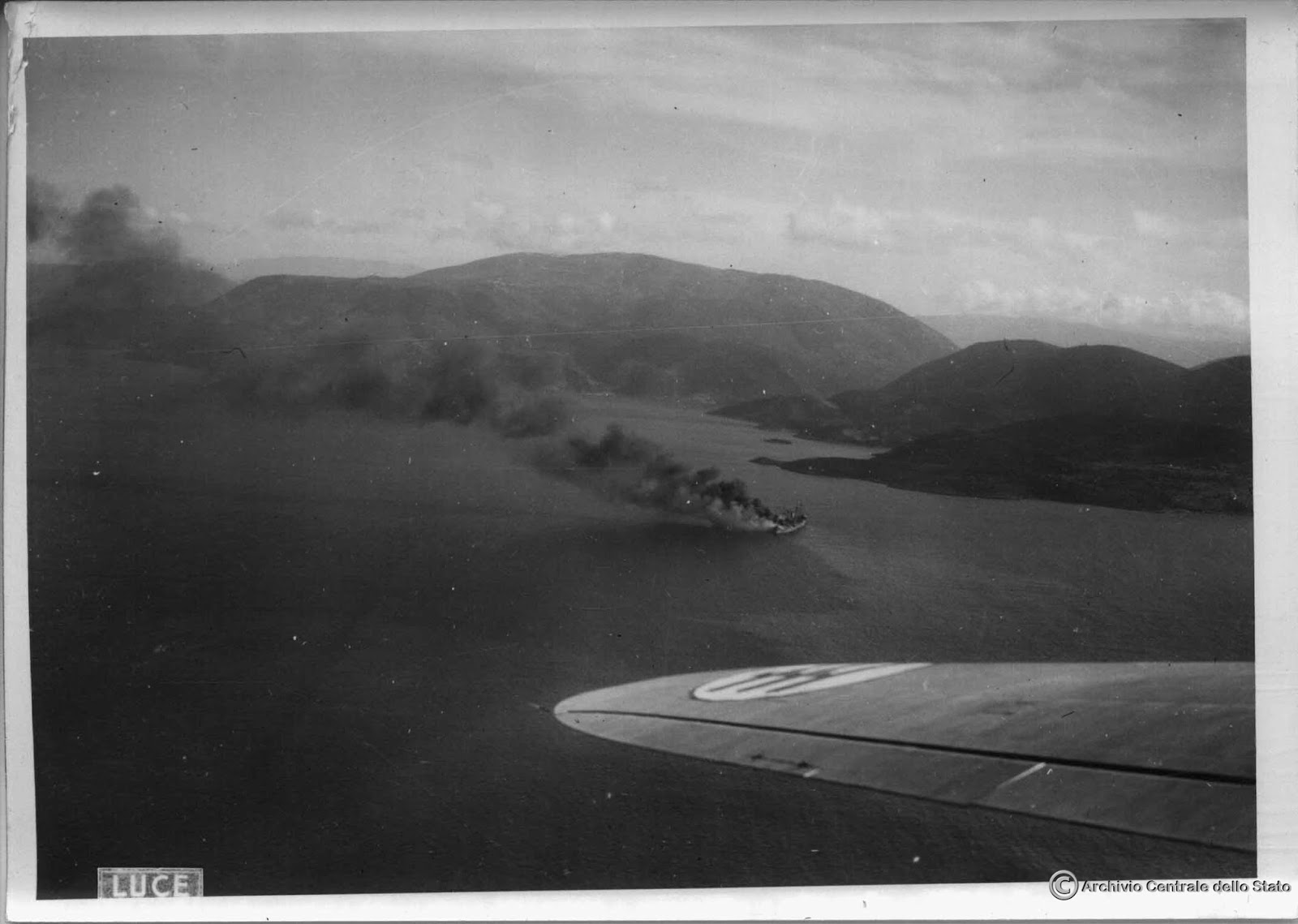 "The photo of the ""Marburg"" from the Italian Archivio Centrale Dello Stato files, reason for the investigation of the ship's identity – Photo Credit: LUCE/George Karelas"