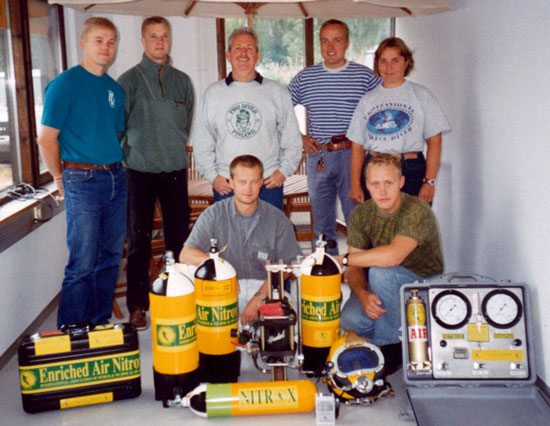 IANTD Instructor course completion Finland 1994