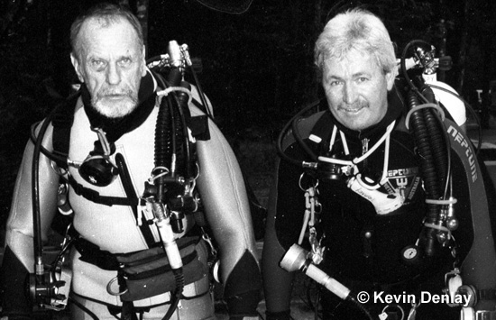 The master and the apprentice, Tom Mount and Kevin Denlay, Florida, USA, 1993. Photo Mirja Denlay