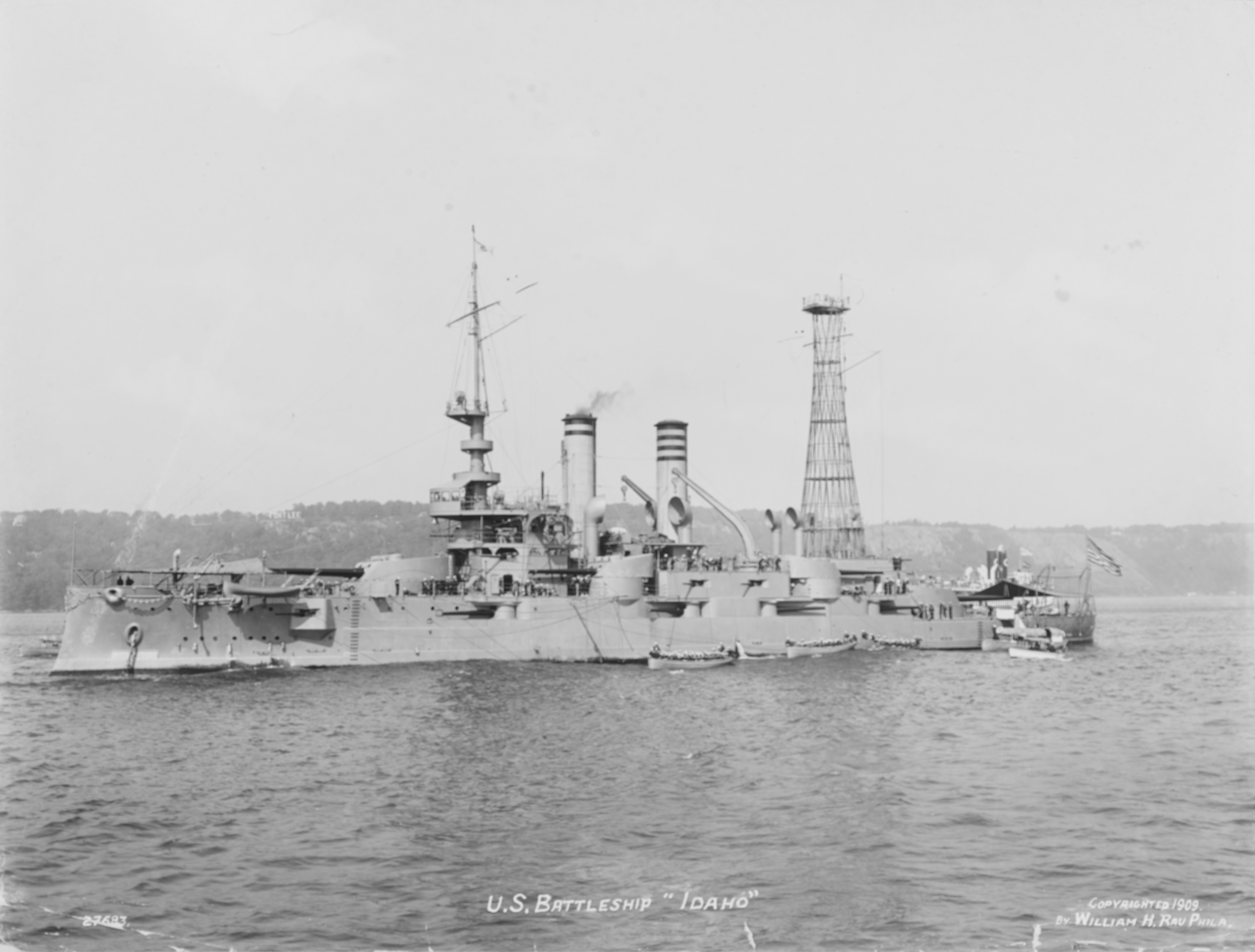 USS Idaho on the Hudson River, while in USN service