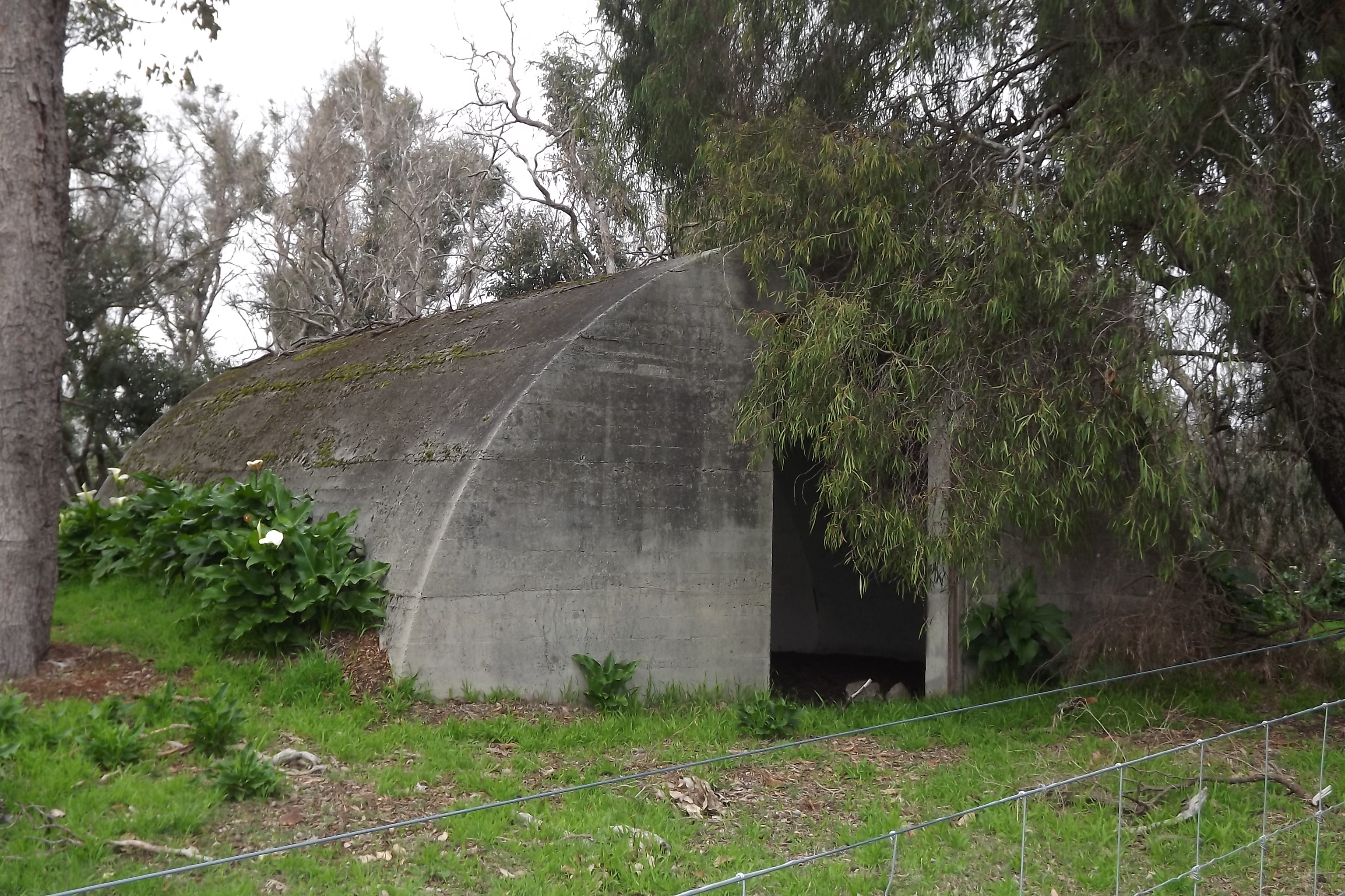 One end of possible amunition hut.