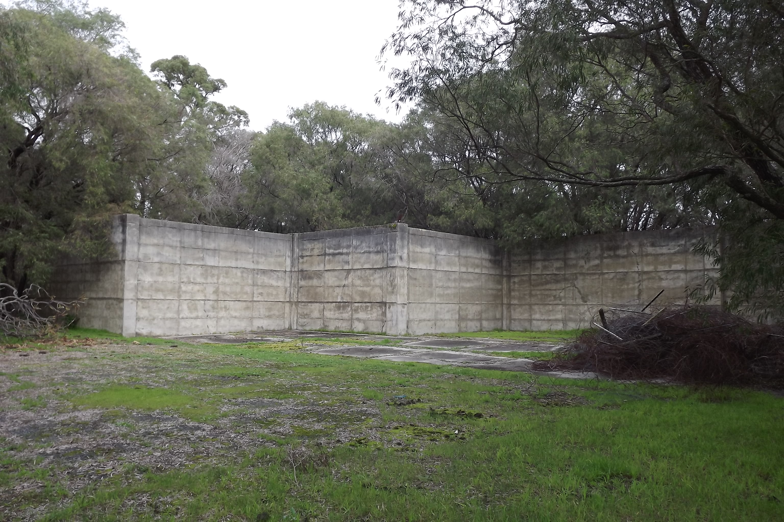 One of the remaining hangars