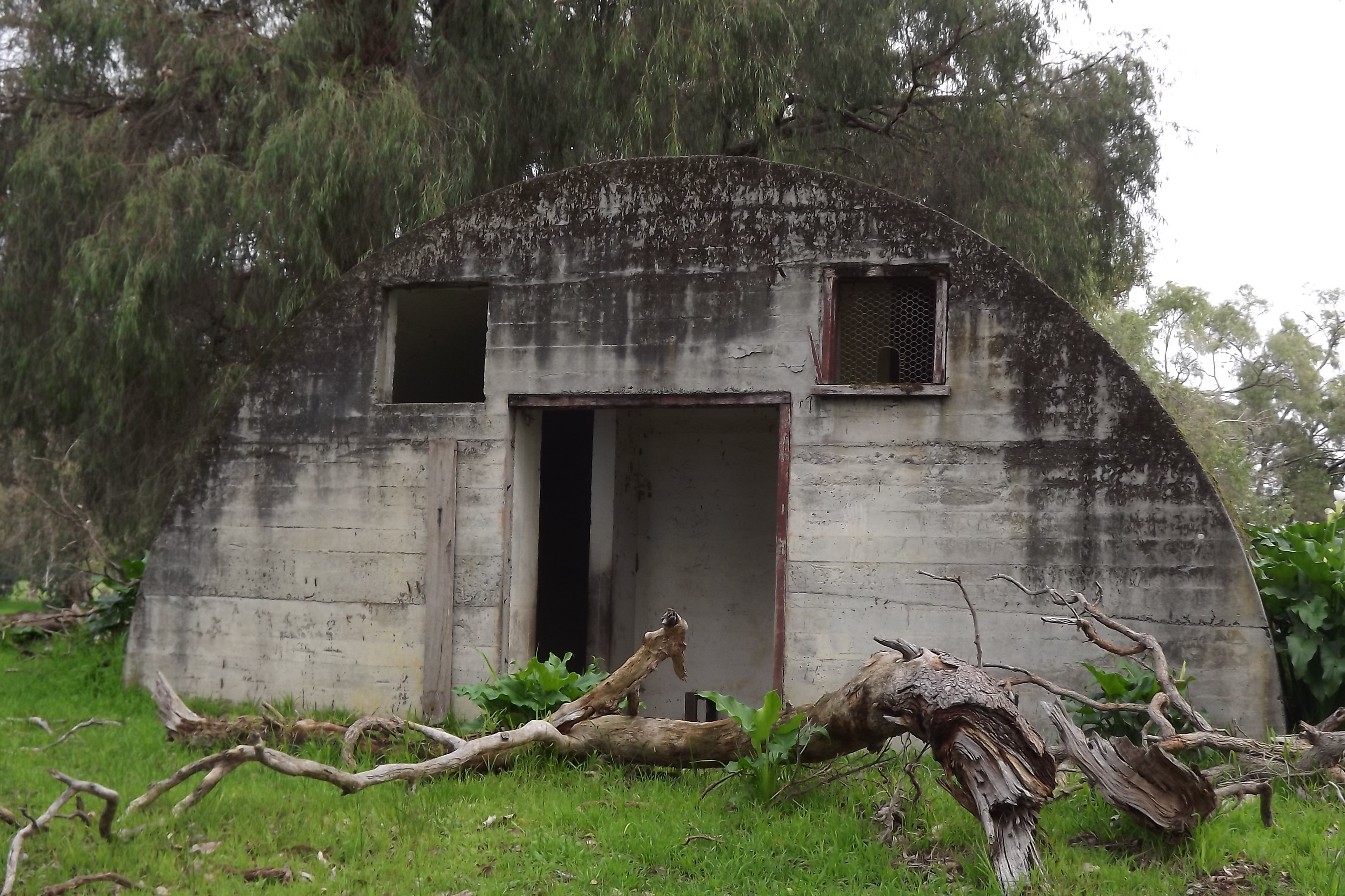 Other end of possible amunition hut..