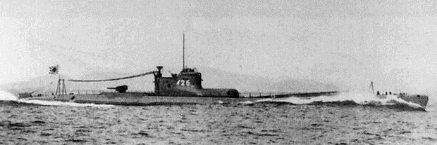 The Japanese submarine I-26 , identical to I-25