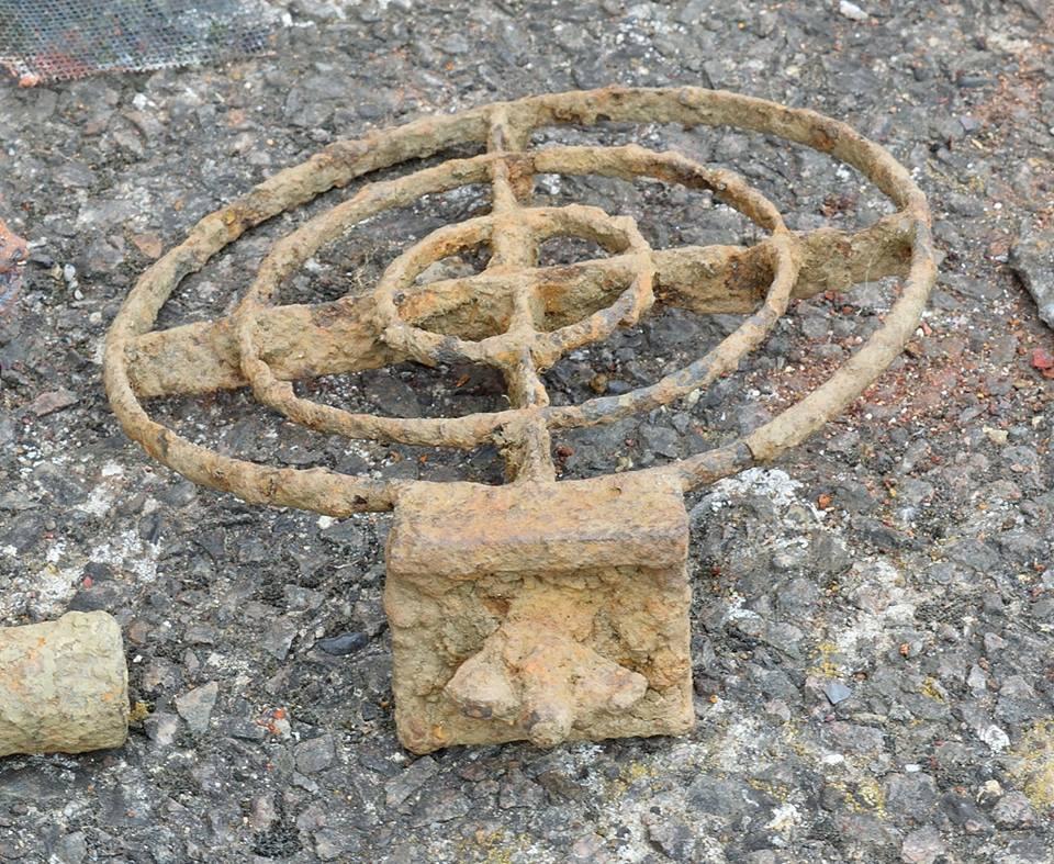 An aerial sight retrieved during a dig