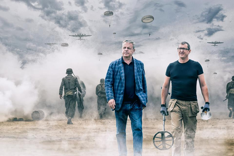 Stephen Taylor and Suggs, as seen on the WW2 Treasure Hunters series on History TV.