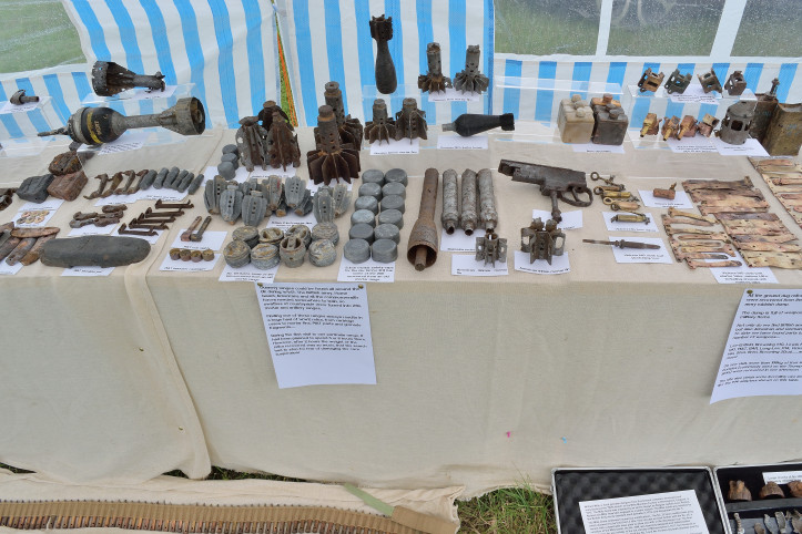 Items displayed at the Victory Show in Leicestershire