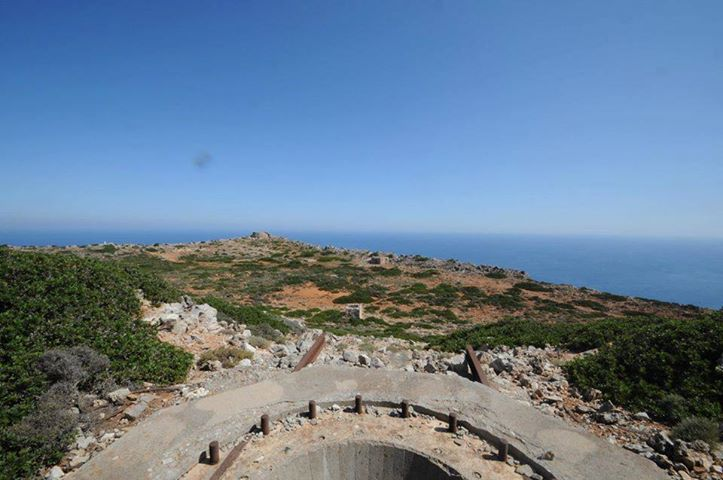 A gun position, overlooking the Aegean Sea and controlling the naval routes.