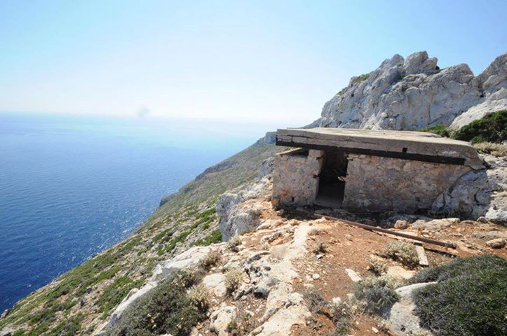 The observation post at the northernmost tip of Crete, overlooking the seaways to and from Crete.