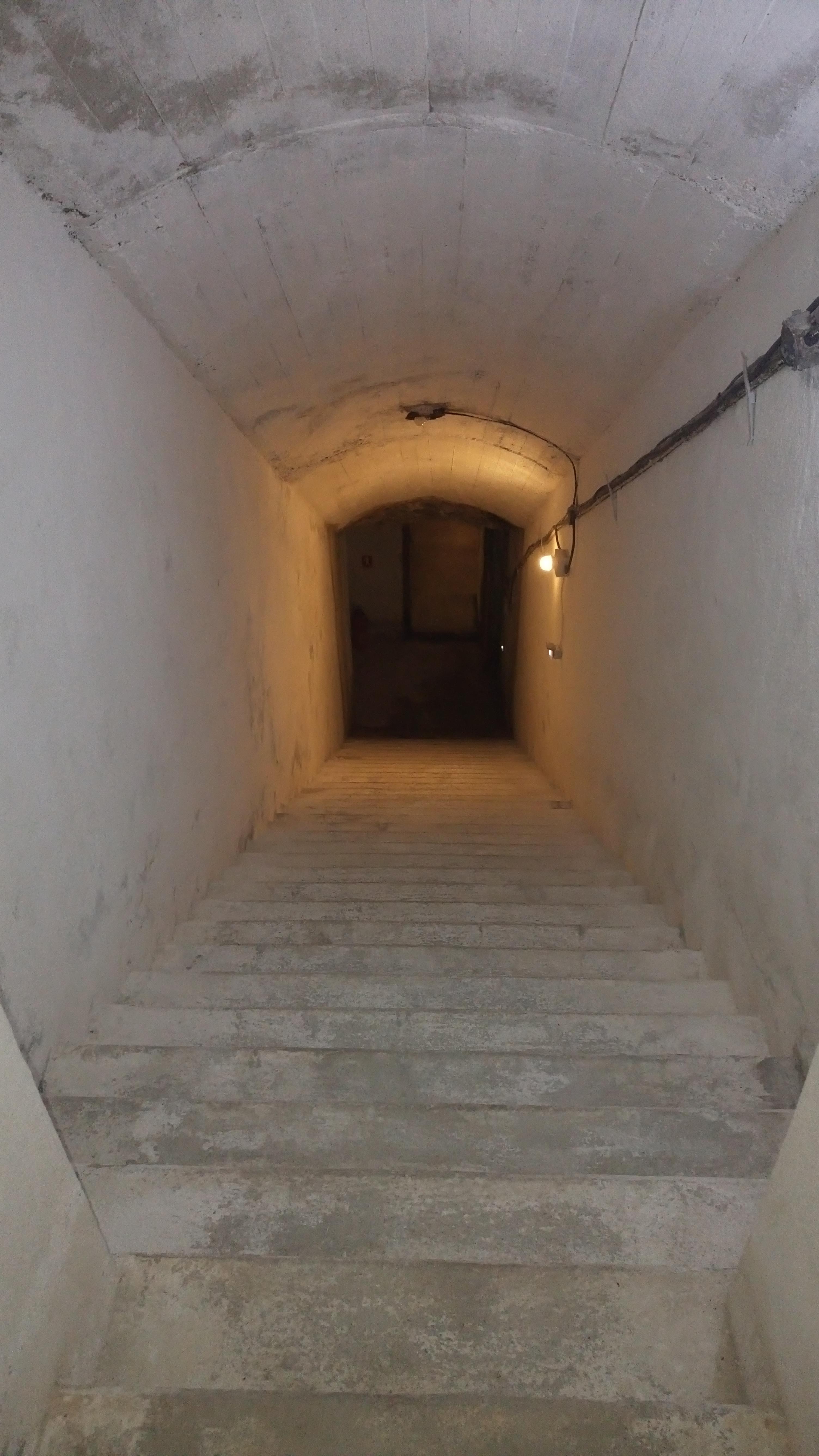 A 30meter corridor, leads us 12 meters underground.