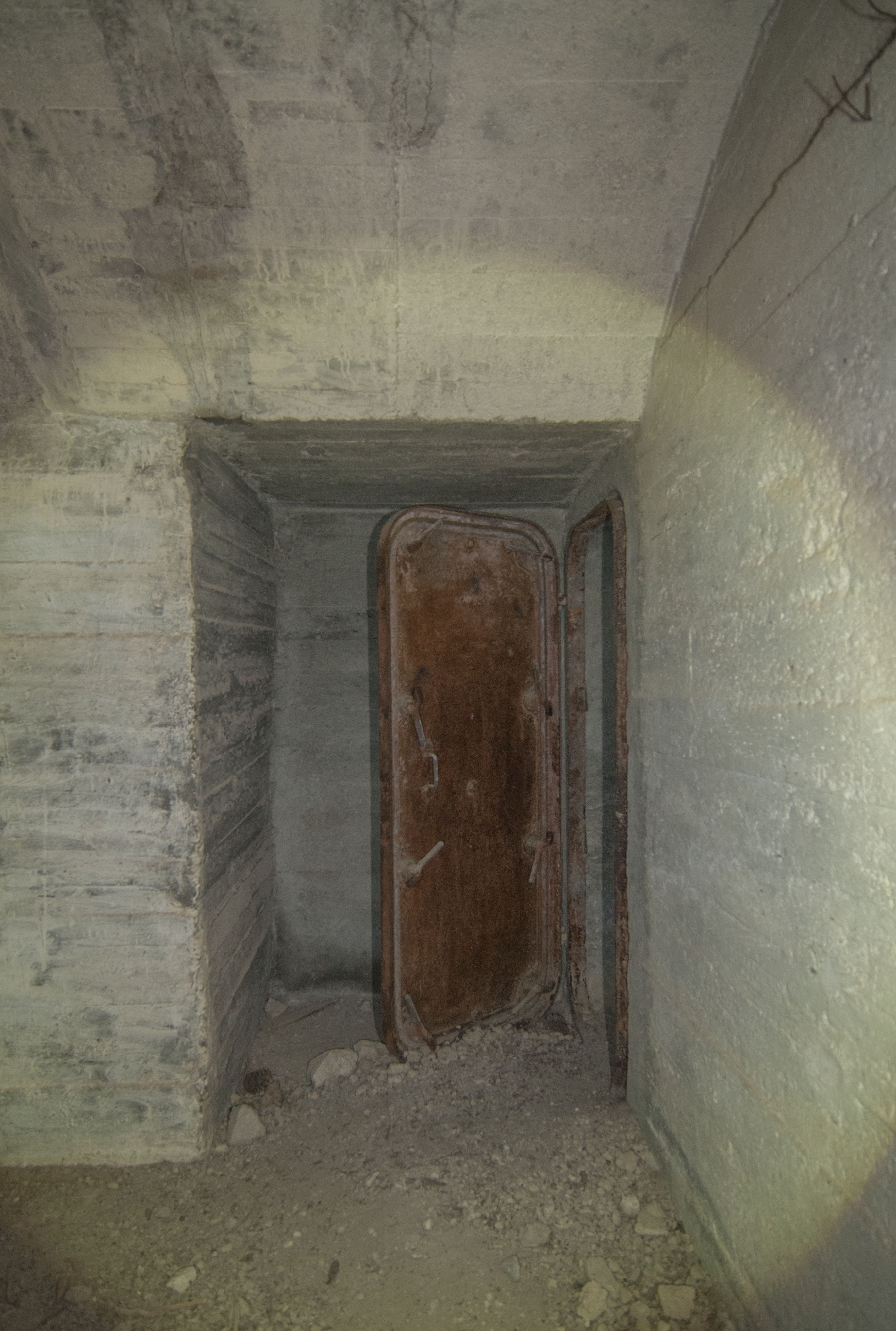 According to Konstantinos Kirimis, this is the only German steel door in any of the WW2 shelters explored in Attica, Greece.