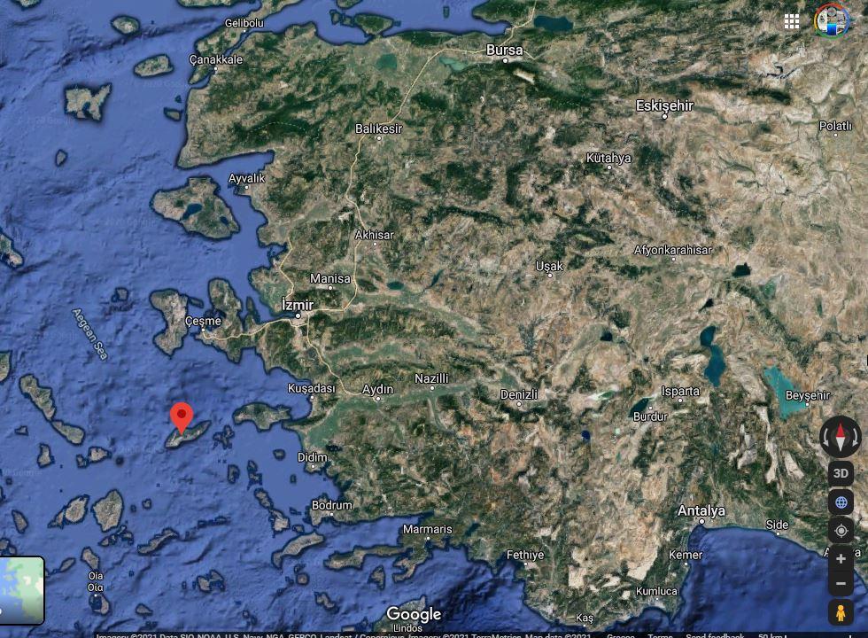 Ikaria island, one of the most beautiful Greek islands.