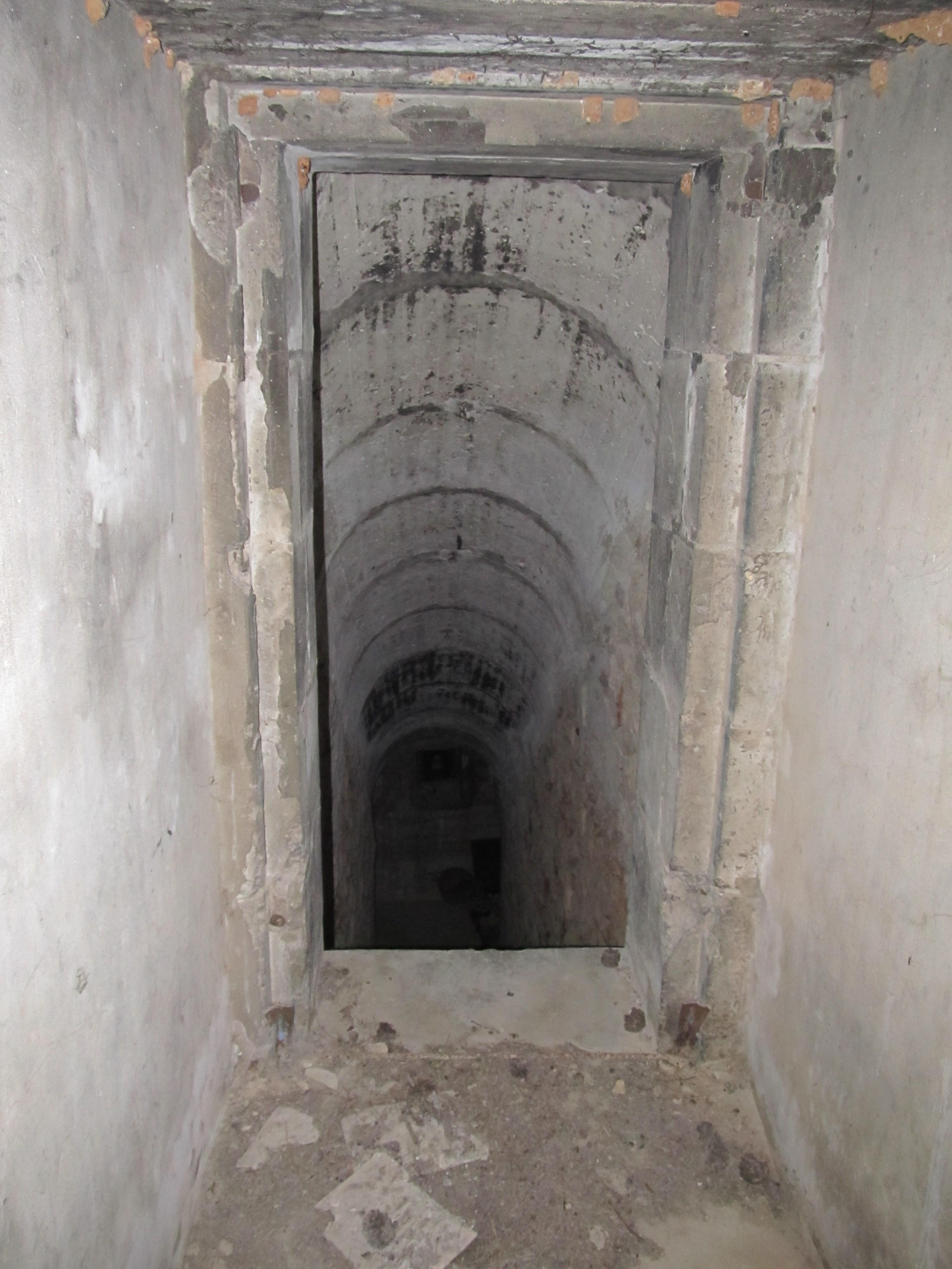 The entrance corridor is 10 meters underground.