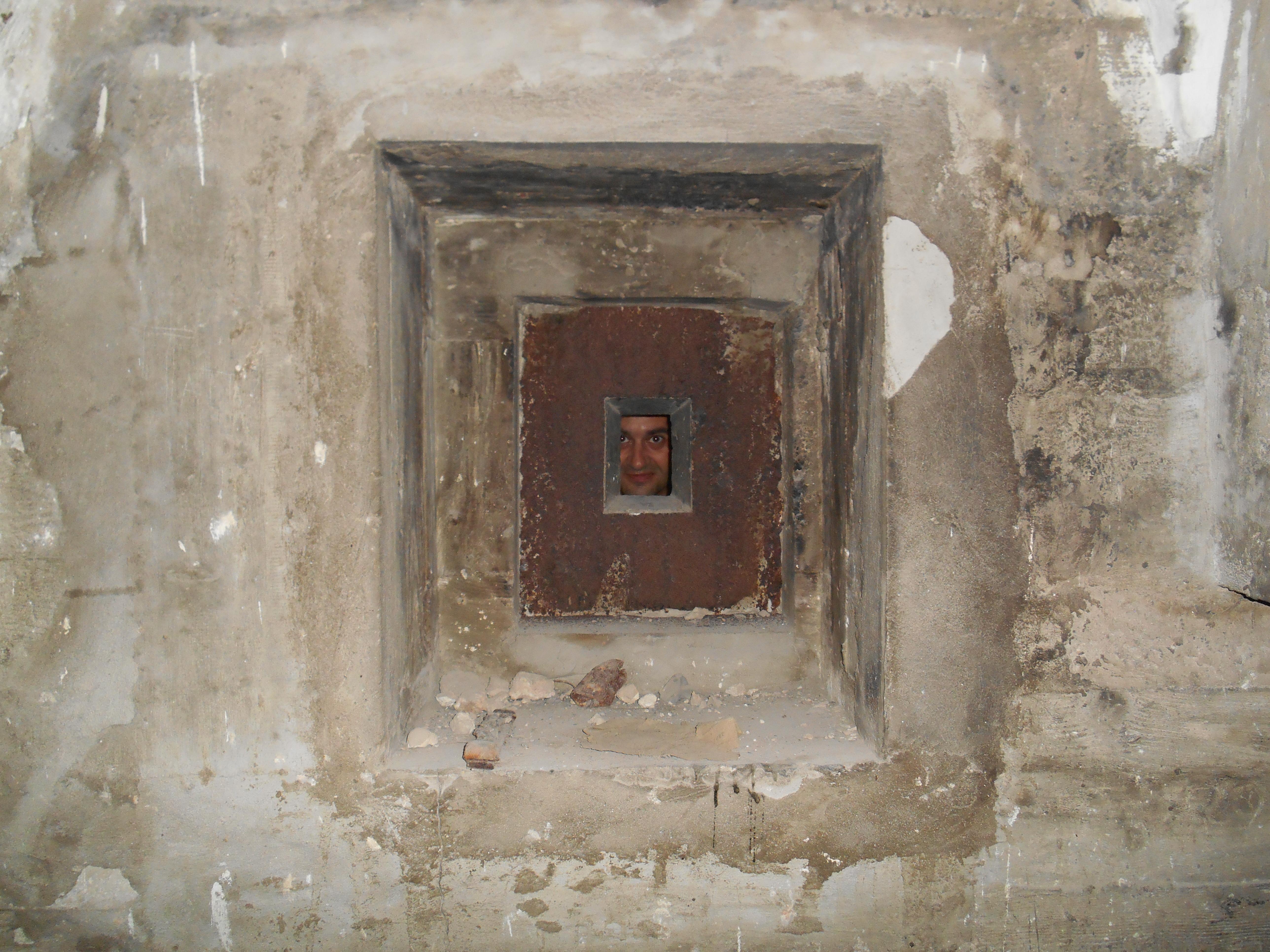 Detail of the machine-gun nest's opening.