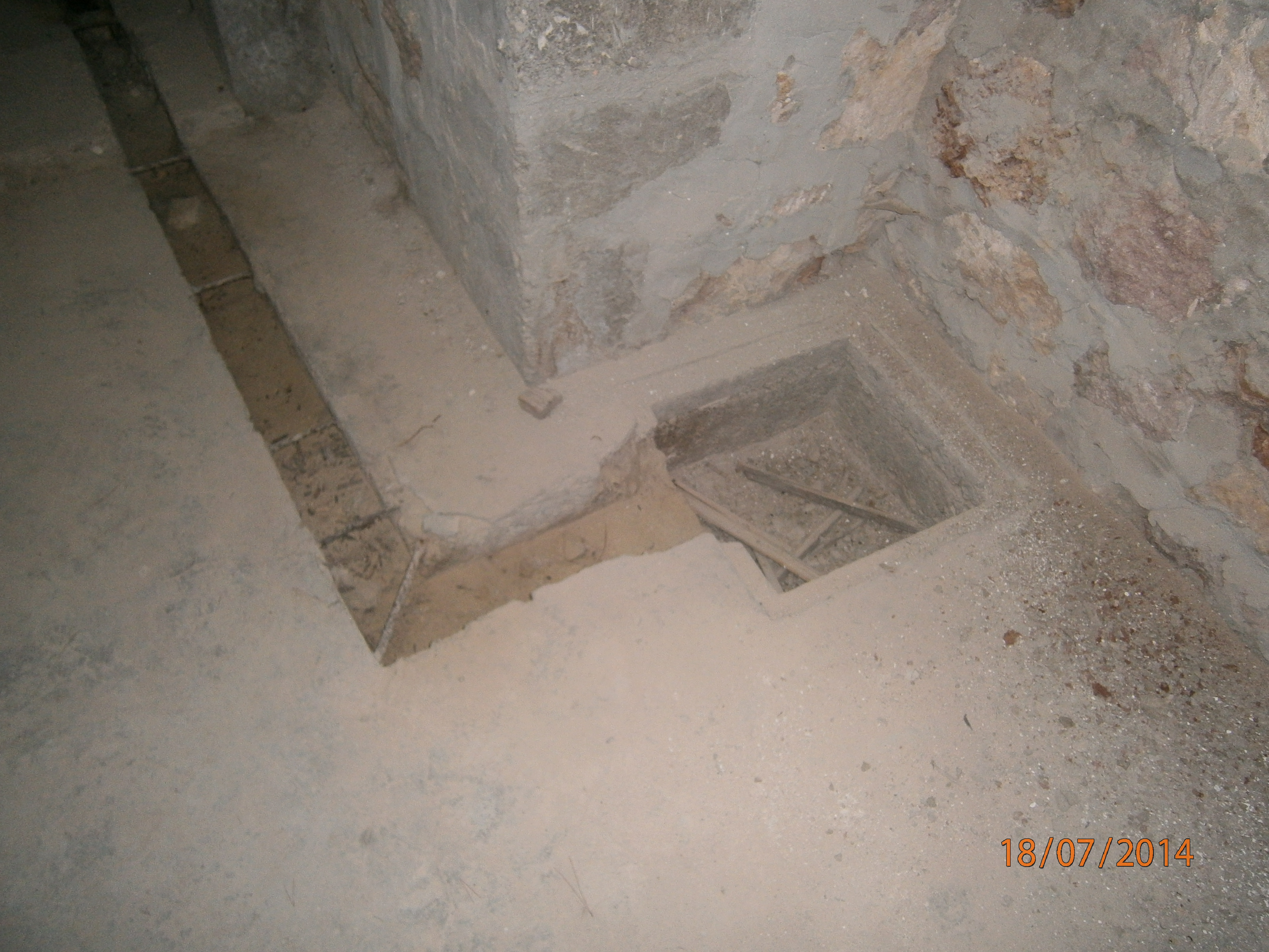 Part of the drainage system