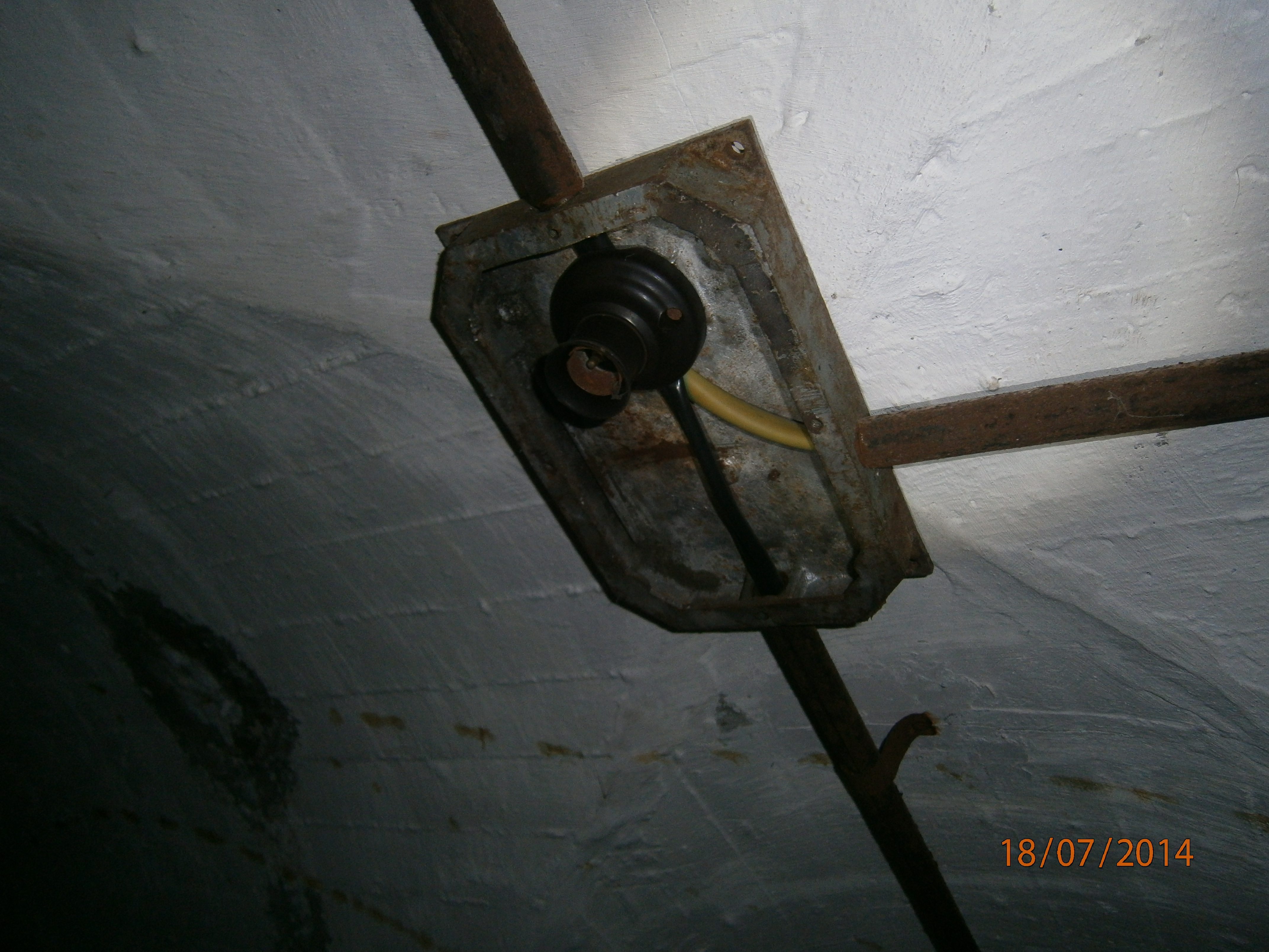 Remains of the electric installation.