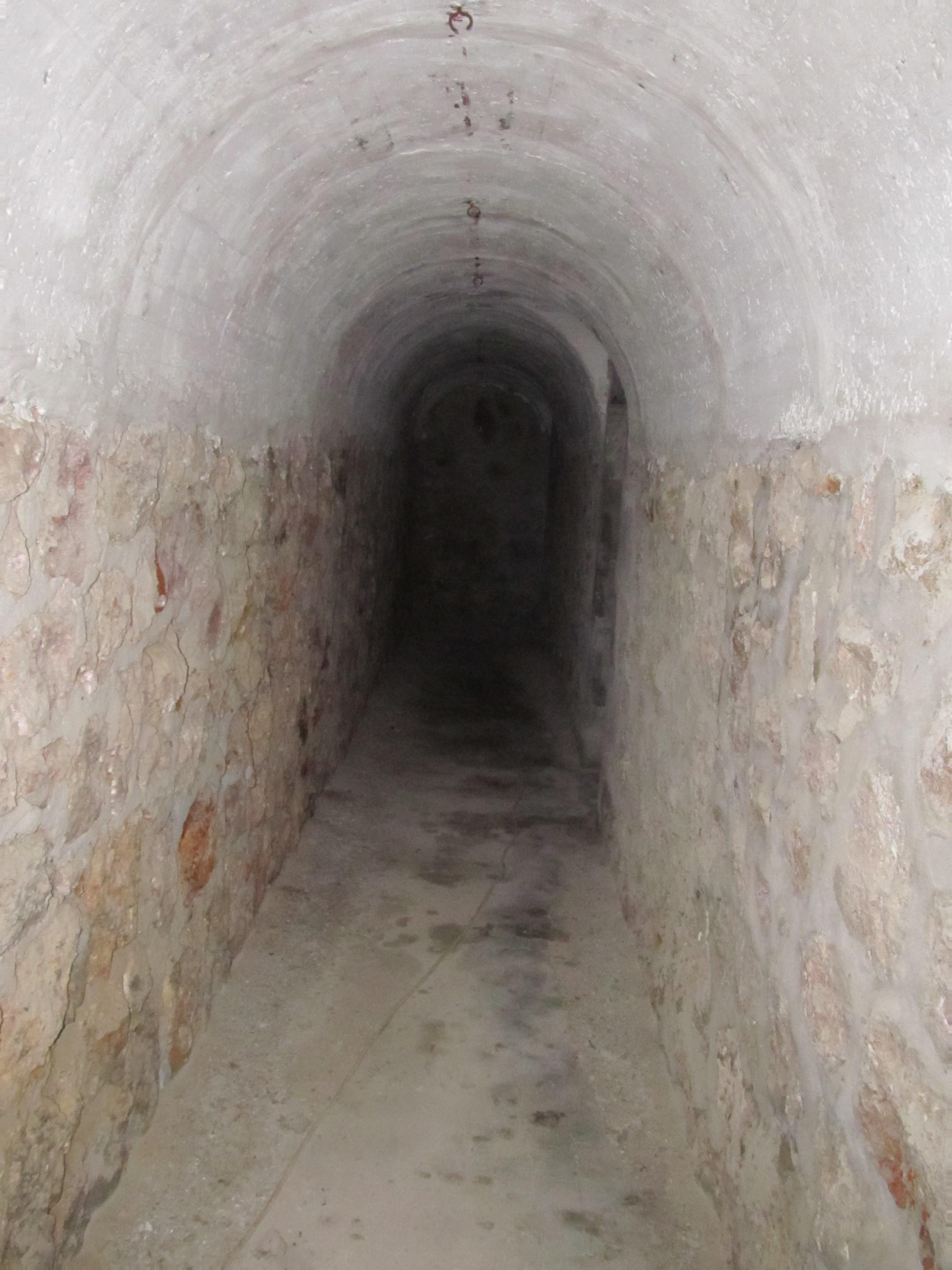An internal corridor.