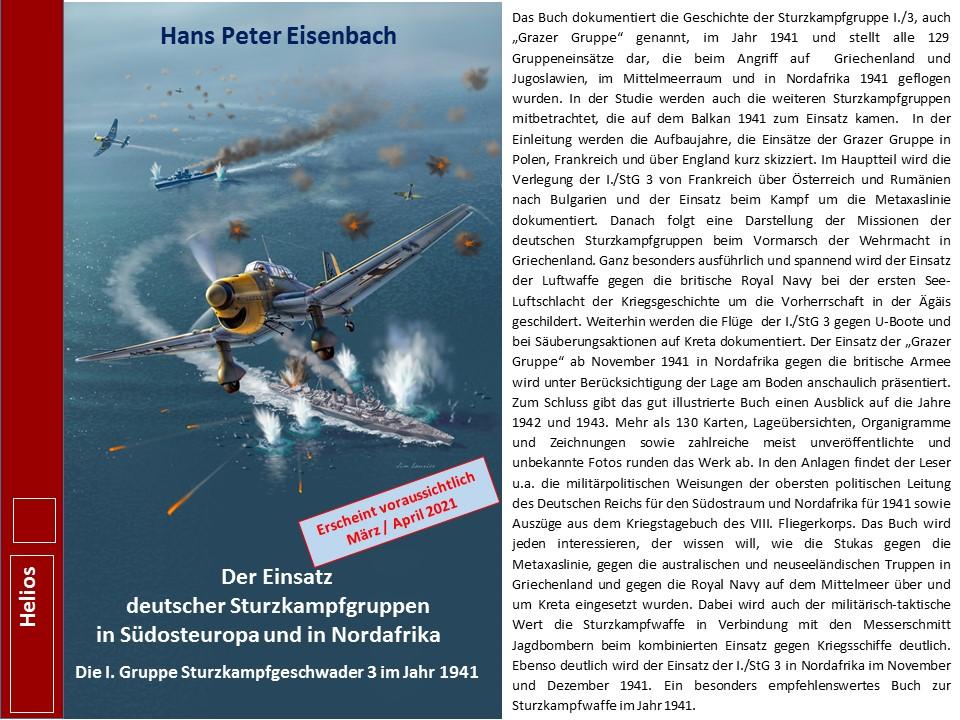 EISENBACH Vorankündigung Stukagruppen in SO Europa und Nordafrika 1941