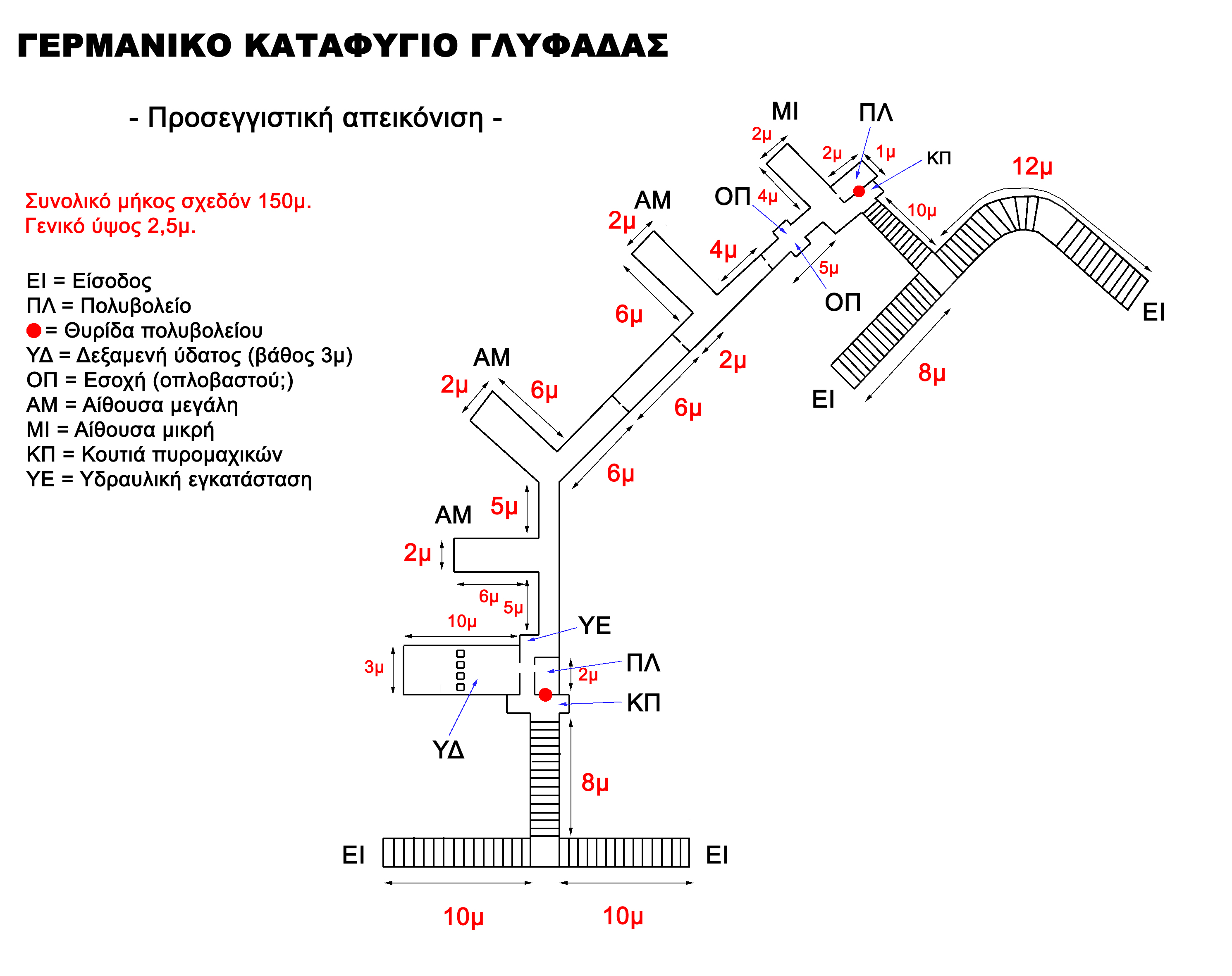 The plan of the second bunker