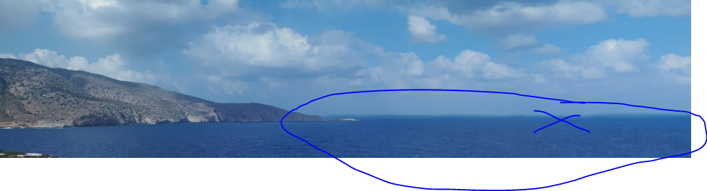 Approximate area of the ditching at sea, epth 150 metres, by AceSfakia